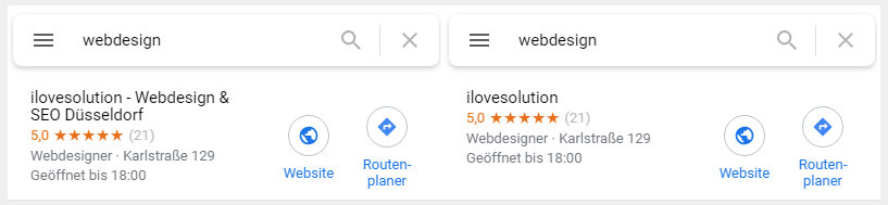 Google My Business Namensänderung